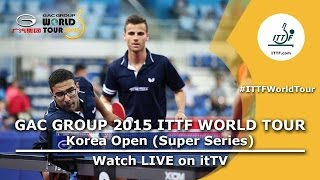 Korea Open 2015 Highlights: JEONG Sangeun/LEE Sangsu vs APOLONIA Tiago/ASSAR Omar (1/8)