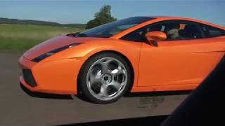 Porsche 911 GT3 RS (996) vs Lamborghini Gallardo 6-speed 500 HP UNCUT
