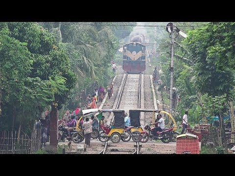 Oil Tanker Train (BTO) of Bangladesh Railway entering Jessore Railway Station