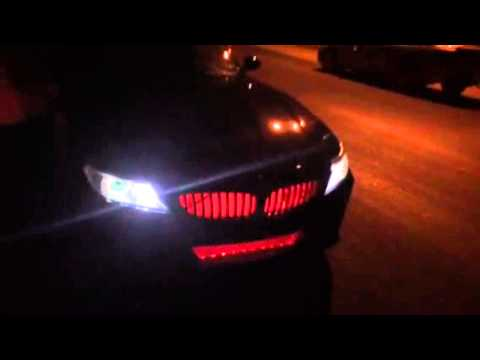 E89 Z4 Red Led Behind Grill Youtube