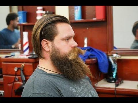 Vikings Haircut Tutorial Man Bun and Beard Trim