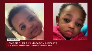 Amber Alert Issued For Infant, Toddler In Madison Heights