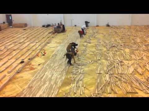 Gymnasium Wood Floor Installation Youtube