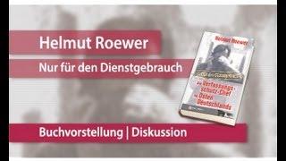 """Helmut Roewer / Felix Krautkrämer: """"Die NSU-Morde und der Verfassungsschutz"""""""