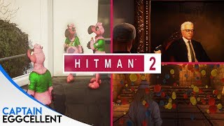 Hitman 2 Easter Eggs - Flamingo Army, Secret Cave, PUBG & Flying Agent 47!