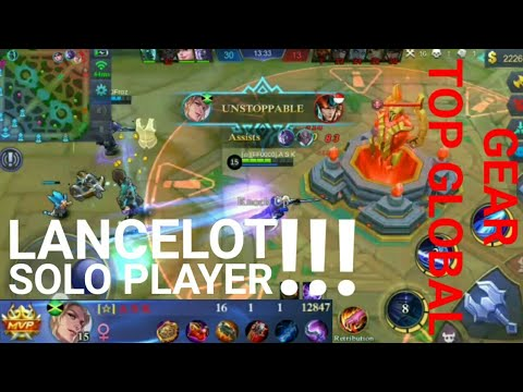 Lancelot Solo Player Use Gear Top Global Mobile Legend Indonesia
