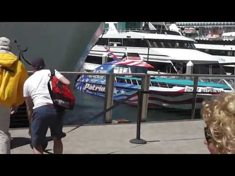 Hornblower Ship Crashing Into San Diego Dock