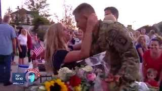 Army pilot surprises wife for baby