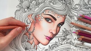 HOW I COLORED SKIN | Daydreams Coloring Book | Prismacolor Premier Colored Pencils