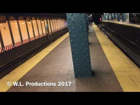 Station tour & train action at Whitehall Street-South Ferry, Lower Manhattan