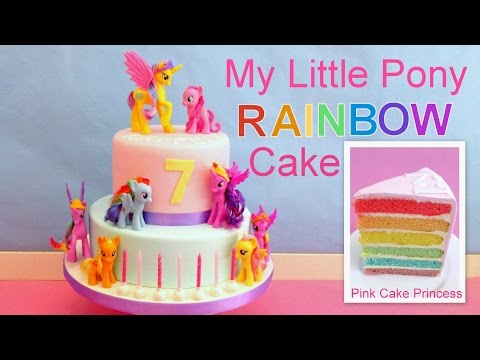 My Little Pony Rainbow Cake How to Make Easy MLP Cake by Pink Cake Princess