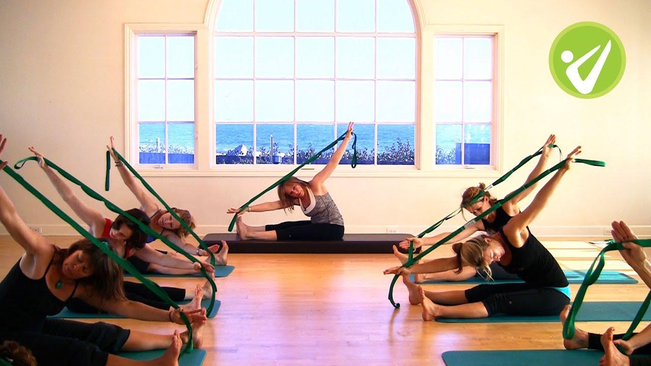 Pilates Stretch Out Strap 174 Mat Workout Pat Guyton Youtube