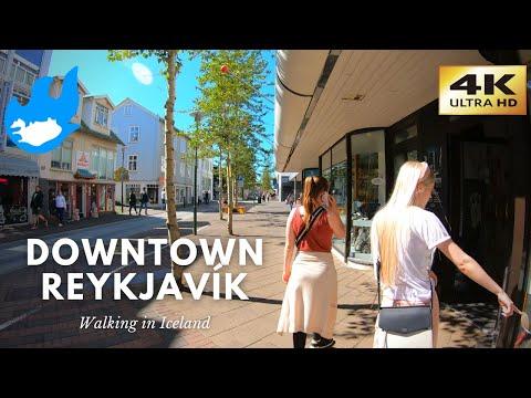 Iceland Walking Tour - Downtown Reykjavík [4K]