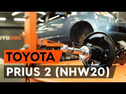 Как заменить стойку амортизатора передней подвески на TOYOTA PRIUS 2 (NHW20) [TUTORIAL AUTODOC]