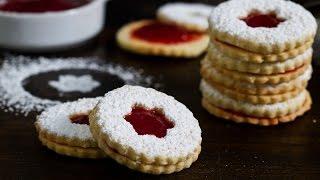 Strawberry Cardamom Linzer Cookies Recipe