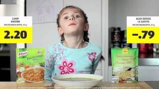 Aldi Suisse Werbung Buchstabensuppe