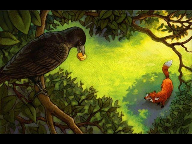 Изображение предпросмотра прочтения – СофьяПаздникова читает произведение «Ворона и Лисица» И.А.Крылова