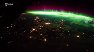 Stunning aurora as seen from the Space Station