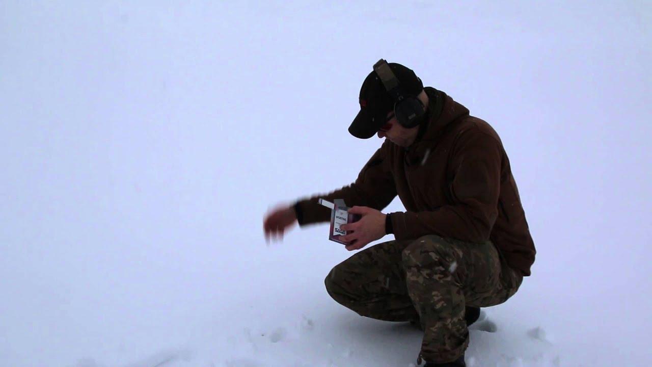 Plinkin in the winter ( 22lr brass catcher)