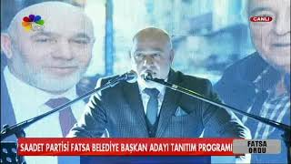 12/02/2019 SAADET PARTİSİ FATSA BELEDİYE BAŞKAN ADAYI HÜSEYİN AKOT TANITIM PROGRAMI
