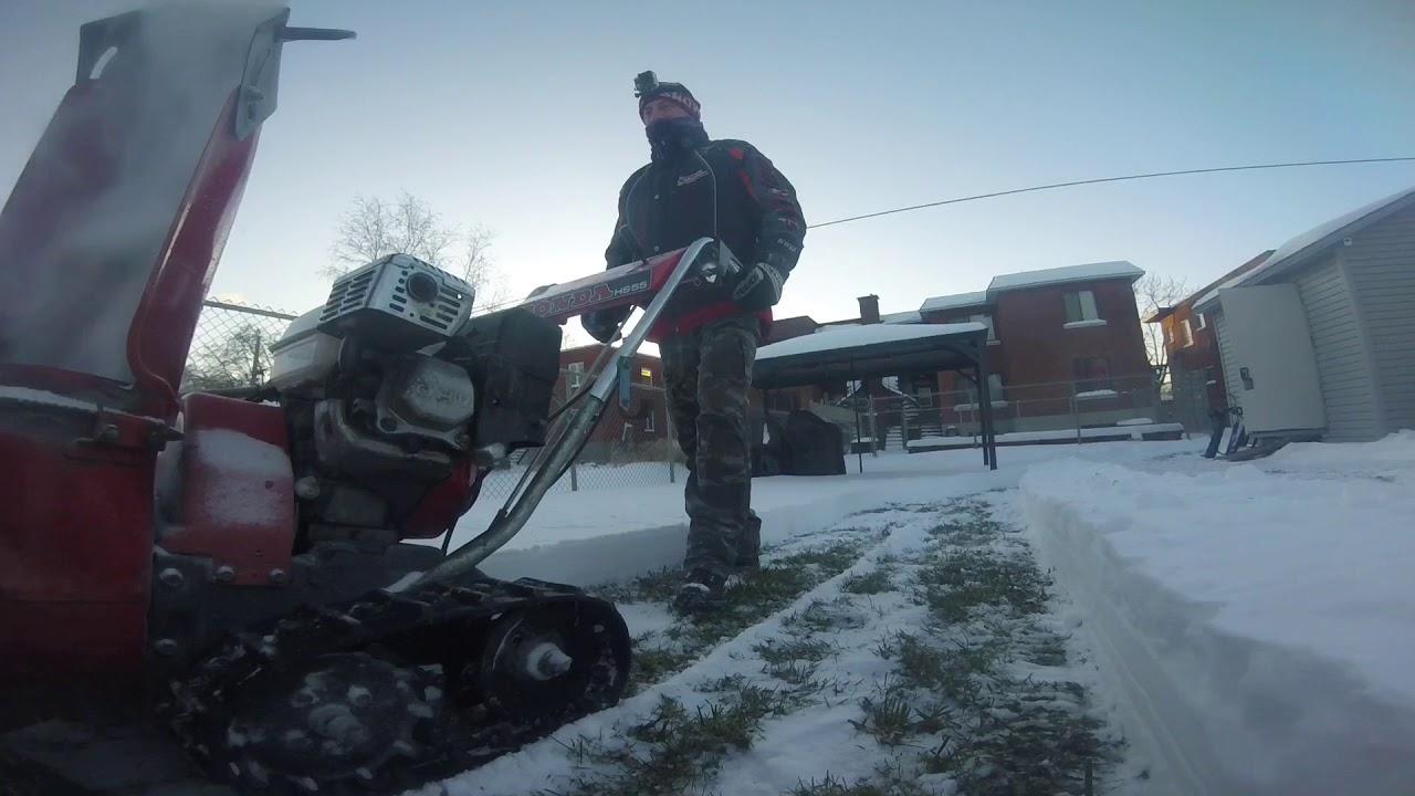 Honda Hs55 Snower In Action