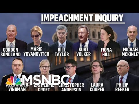 Day One Of The Public Phase Of President Donald Trump's Impeachment | Deadline | MSNBC
