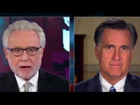 Wolf Blitzer interviews Mitt Romney