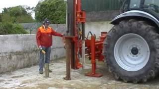 postdriver rock spike Vector powerdrive fencing post driver knocker pile postpounder pounder fencer