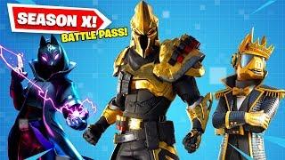 *NEW* Season X Battle Pass in Fortnite! (Extra Variants!)