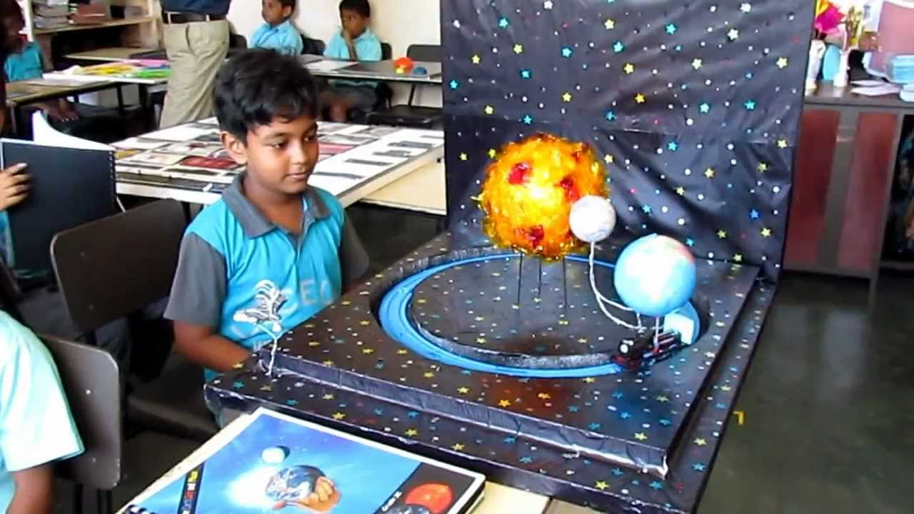 Grade 3 Science Project Earth Moon Amp Sun Youtube