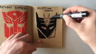 How to Draw a Decepticon Symbol