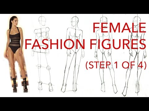 Female Fashion Figures: Step 1 of 4: Figuring Out the Pose & Proportions