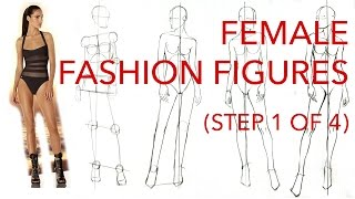 How to Draw Fashion Figures: Step 1 of 4: Figuring Out the Pose & Proportions