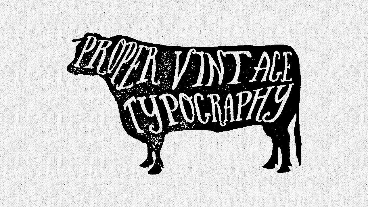 Illustrator CC CS6 : Proper Vintage Typography