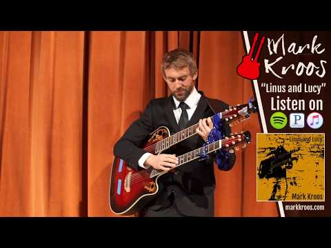 Mark Kroos Plays Linus and Lucy From Charlie Brown on his Ovation Double Neck Guitar