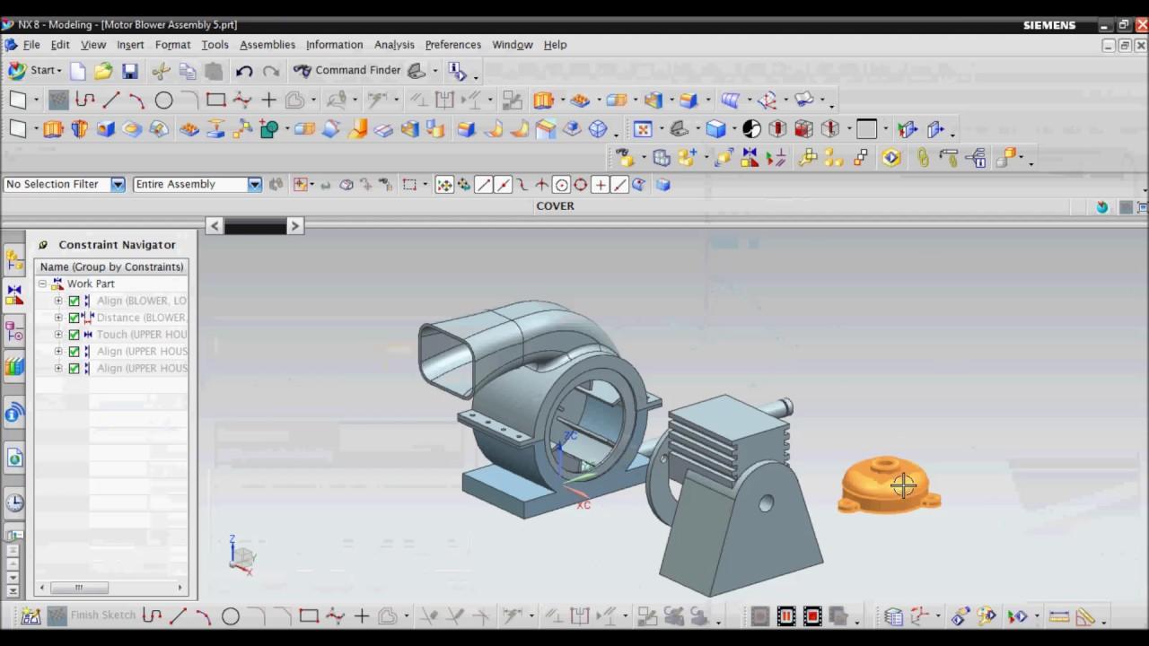 unigraphics  ug nx  - assembly tutorial