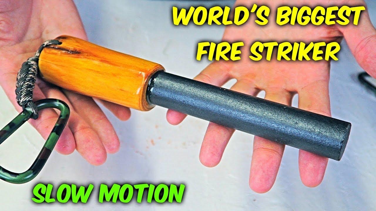 World's Biggest Fire Striker - Slow Motion