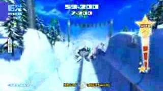 SSX Blur Half Pipe Tricking Gameplay