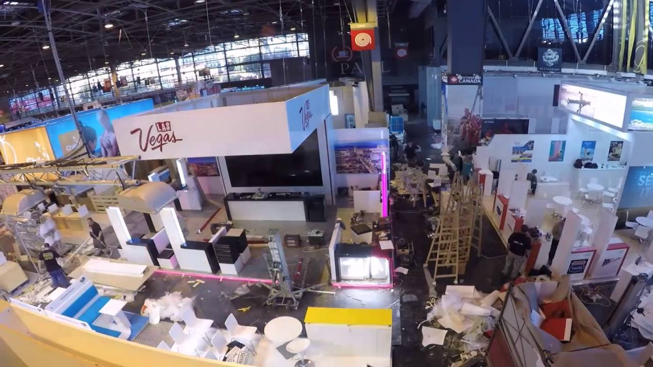 Exhibition Stand Agency : The ice agency las vegas tourism exhibition stand time lapse youtube