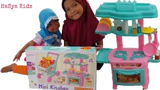 Unboxing Mini Kitchen set    Hasya kids    Dapur Boneka barbie