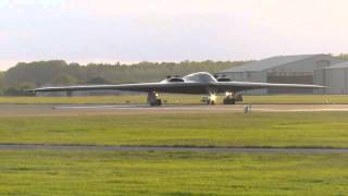 b2 bomber landing at raf fairford june 8th 2015