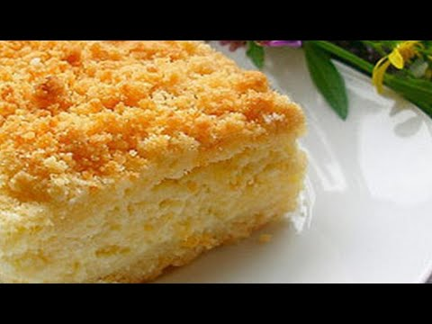 Быстрый и Вкусный Творожный Пирог/с Творогом в Духовке из Песочного Теста, с Крошкой/Cheesecake/Pie