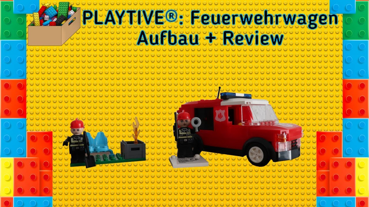 Playtive Fire Engine Unboxing Speedbuild And Review