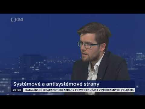 Jakub Michálek v pořadu ČT Události, komentáře