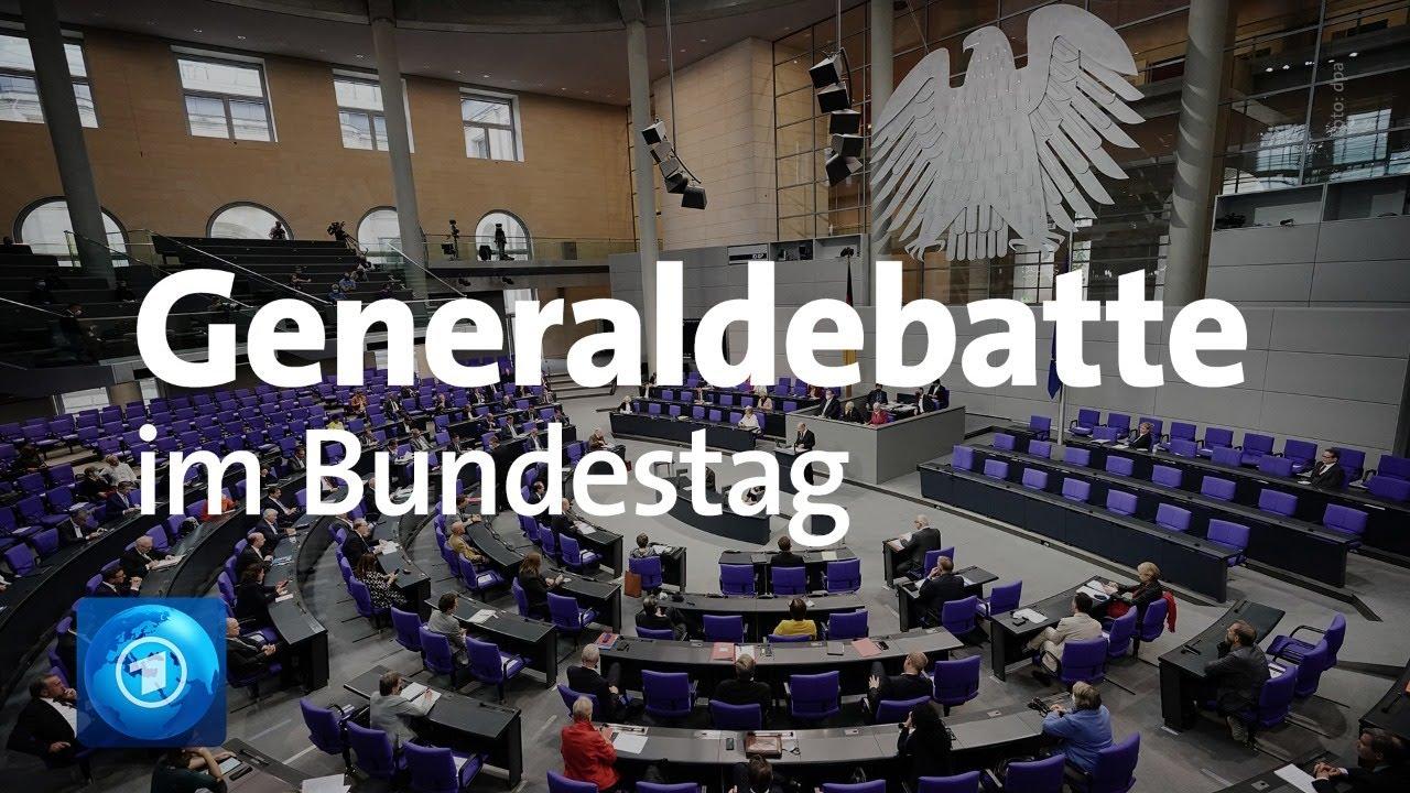 Bundestag mit Generaldebatte zum Bundeshaushalt