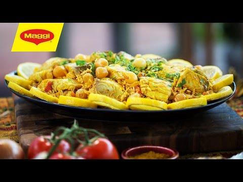 MAGGI Recipes: King Fish with Pickled Onions وصفات ماجي: سمك الكنعد مع البصل المخلل