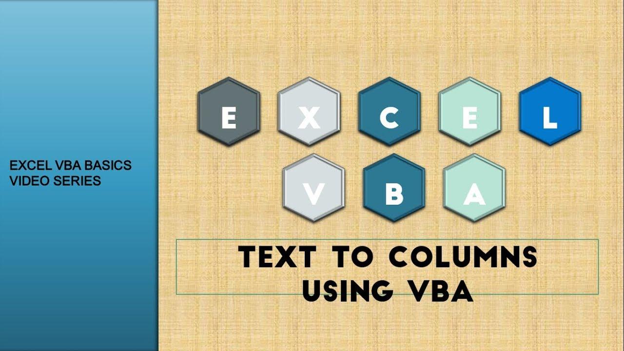EXCEL - Split Columns using VBA  - Learn Excel VBA