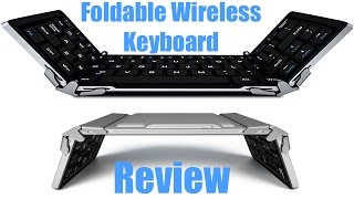Review of Airfox K20 Ultra Compact Slim Profile LED Backlit Wireless Bluetooth Keyboard