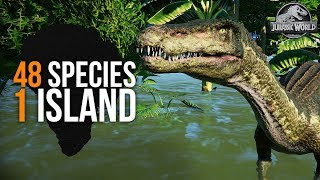 48 SPECIES - 1 ISLAND! THE ULTIMATE PARK | Part 4 (Jurassic World: Evolution All Species Park) streaming