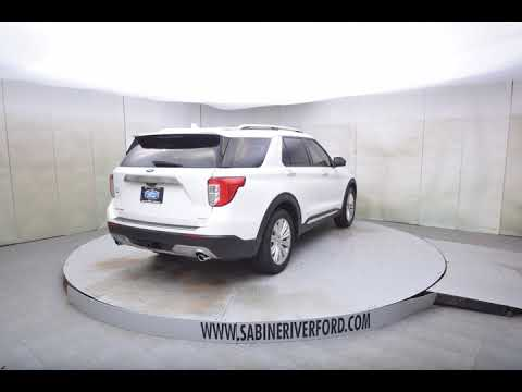 2020 White Metallic Ford Explorer 4D Sport Utility #7705